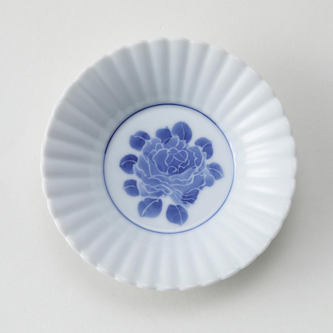 墨はじき ボタン豆皿