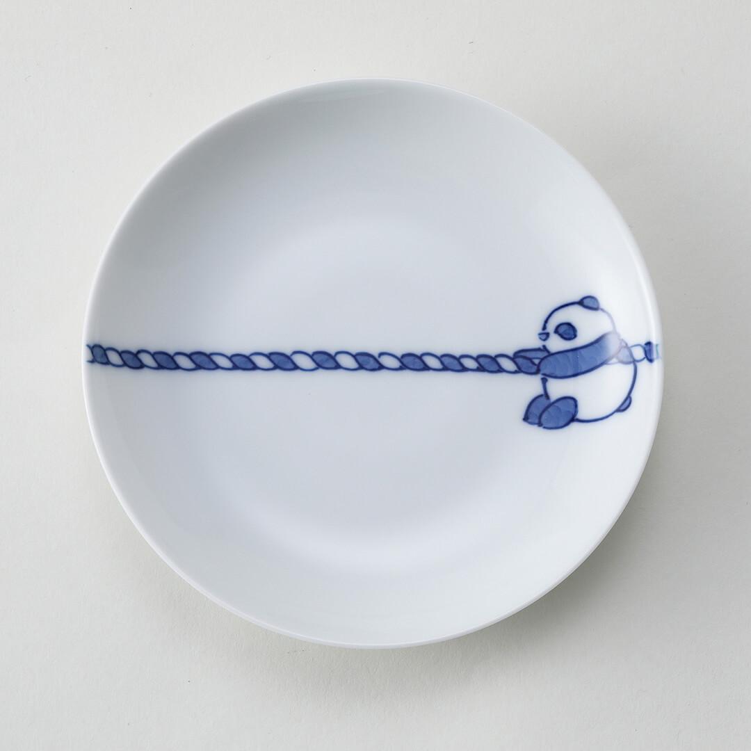 綱引きパンダ豆皿(右)