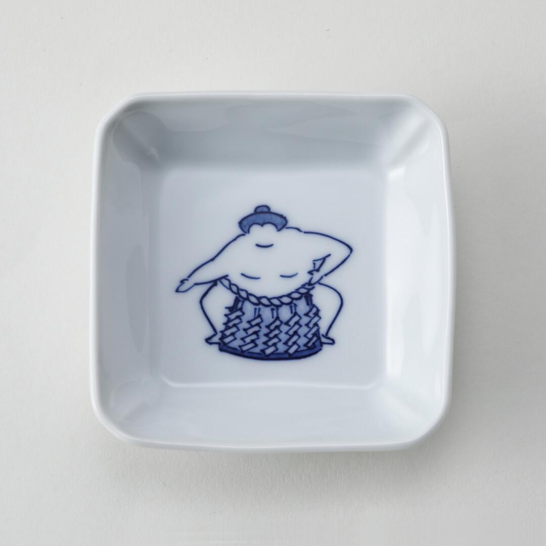 相撲雲竜型豆皿