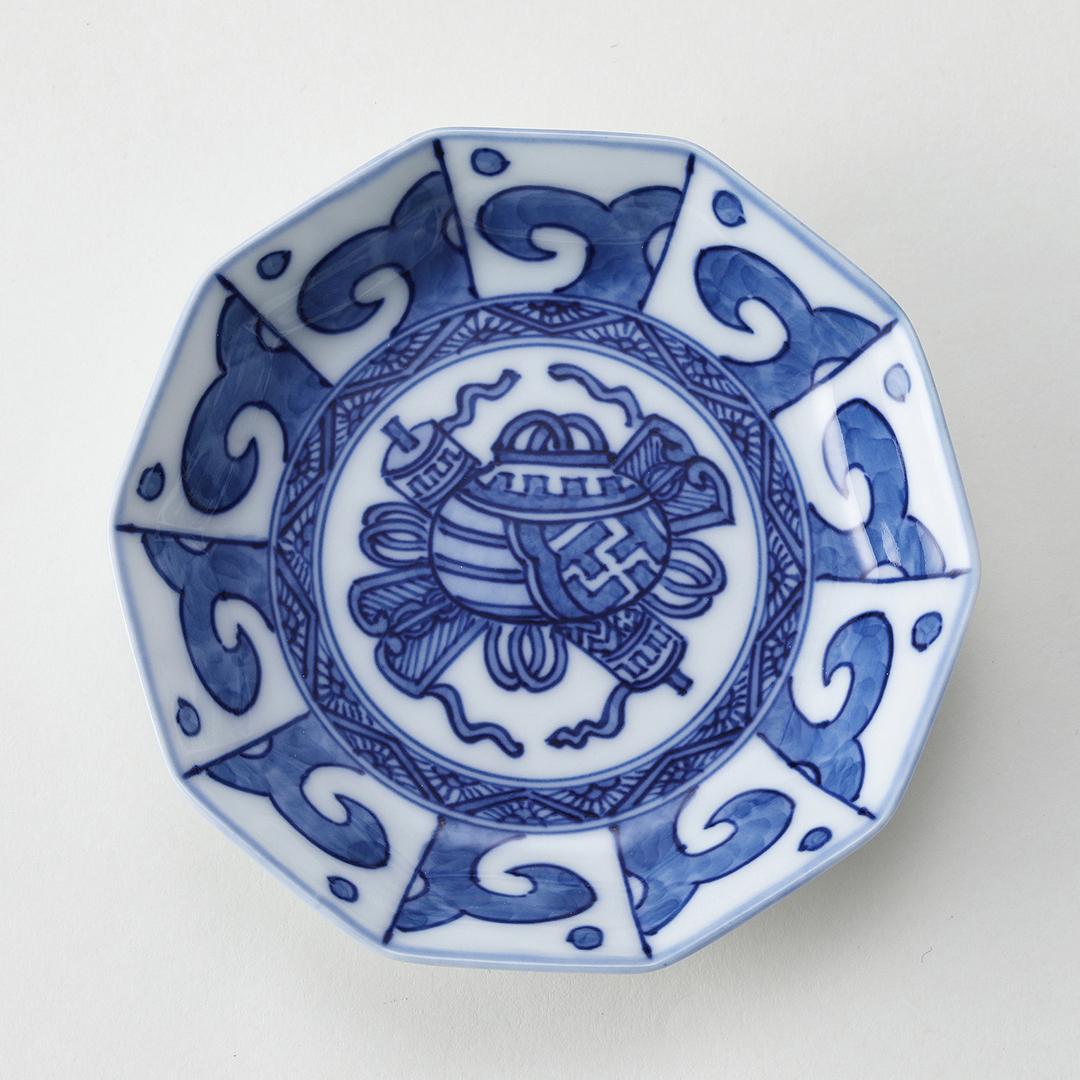 波祥瑞豆皿