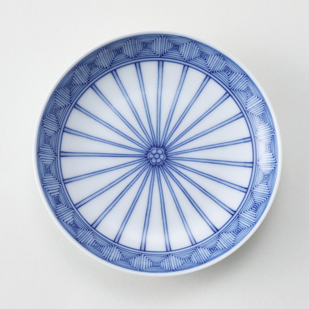 平戸十草雷文豆皿