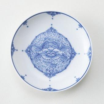 間取牡丹唐草豆皿