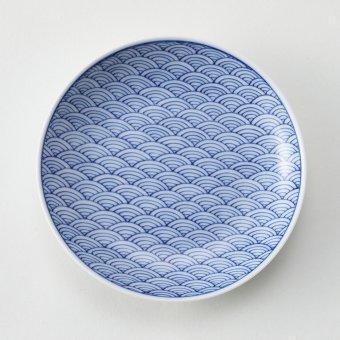 青海波豆皿