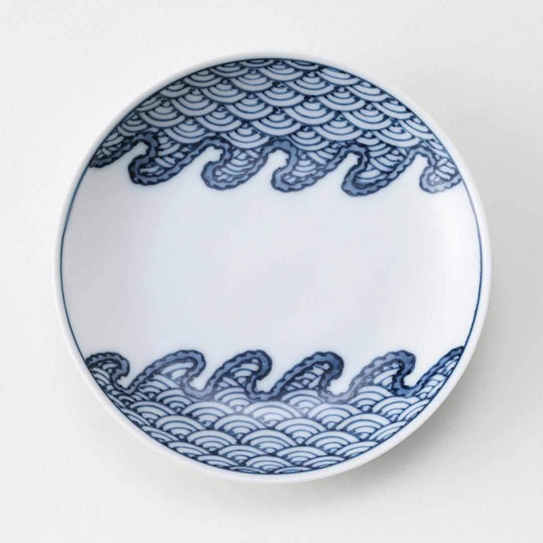 波青海波豆皿