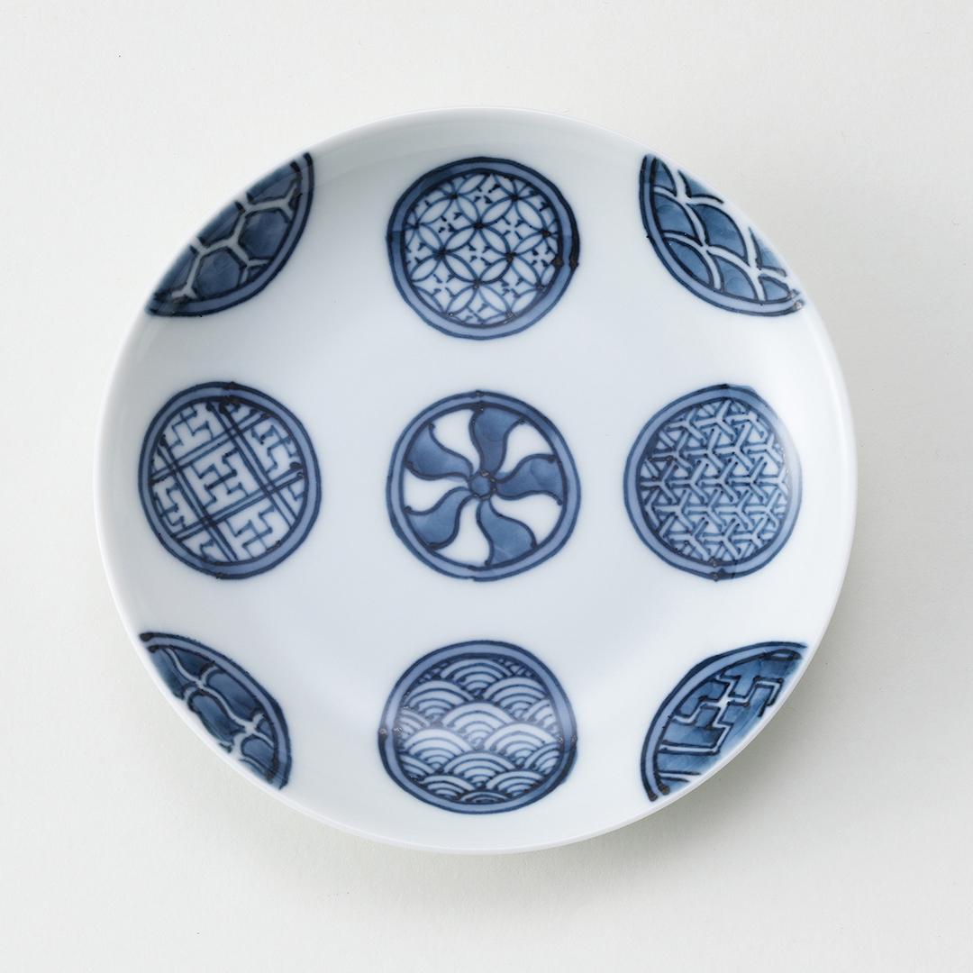 丸紋地紋豆皿