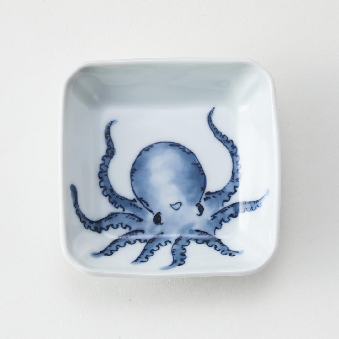 魚紋〈たこ〉豆皿