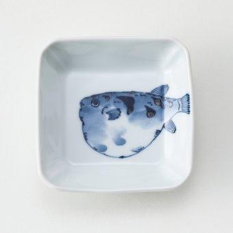 魚紋〈ふぐ〉豆皿