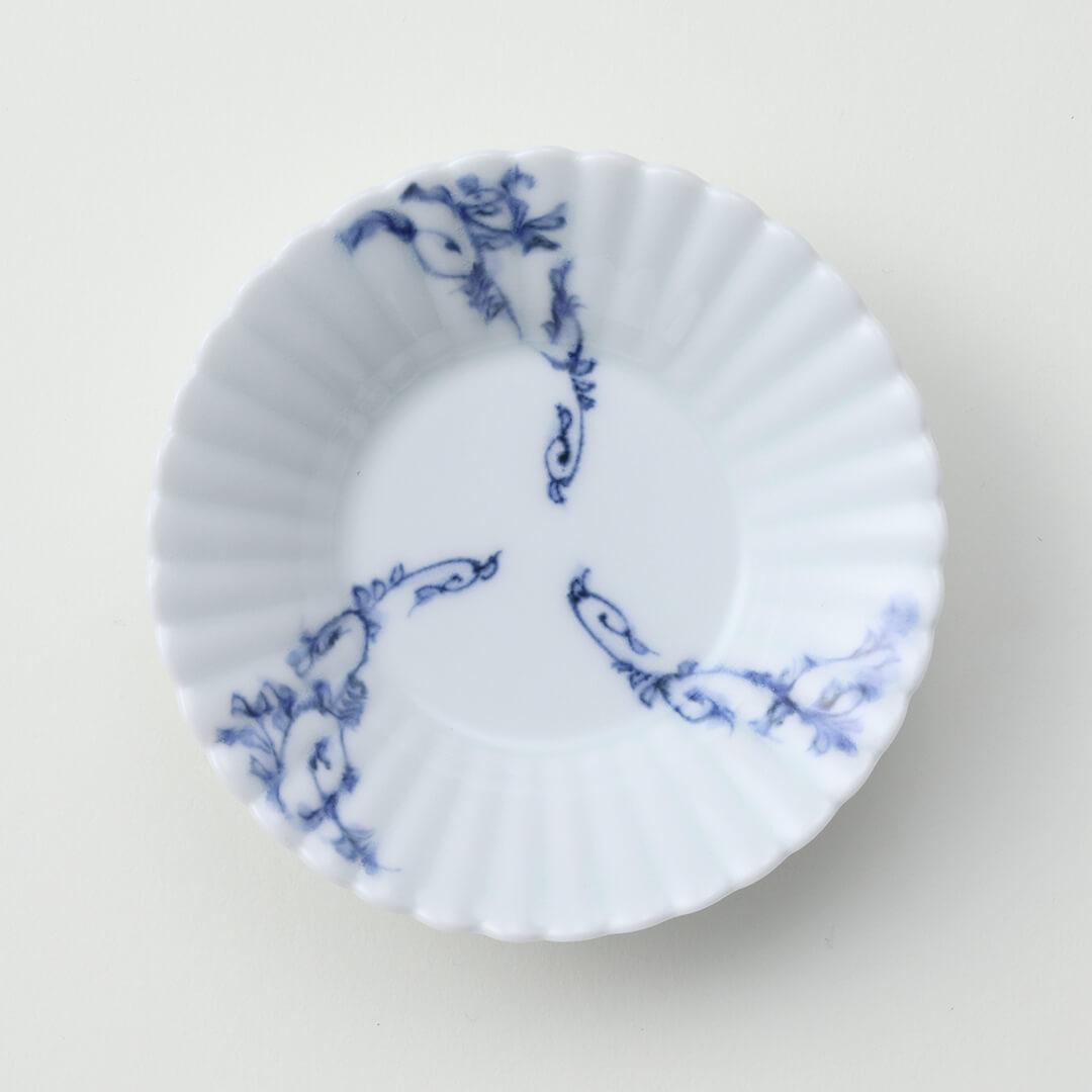 三方 唐草豆皿
